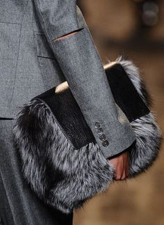 Fur Bag , inspires me to make something similar, maybe with some handles.