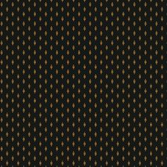 Hollyhocks - Black with Gold Striped Diamonds Jo Morton Reproduction Designer Quilting Sewing Fabric by Andover - A-7751-K - Half Yard