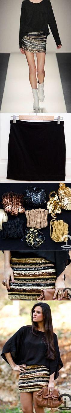 DIY - Balmain Inspired Skirt