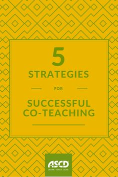 Co-teaching is a marriage. There are good times and bad times, and you learn to weather them together for the children. Check out these strategies for success!
