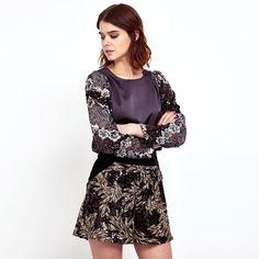Holiday #OOTD in the velvet sequinned Noble Shorts from #LeavesofTelluride