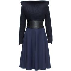LATTORI Solo Dress (33865 RSD) ❤ liked on Polyvore featuring dresses, blue cocktail dress and blue dress
