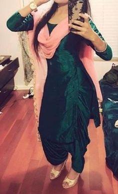 custom made salwar s Patiala Suit Designs, Patiala Salwar Suits, Kurti Designs Party Wear, Salwar Designs, Designer Punjabi Suits, Indian Designer Wear, Designer Sarees, Indian Suits, Indian Wear
