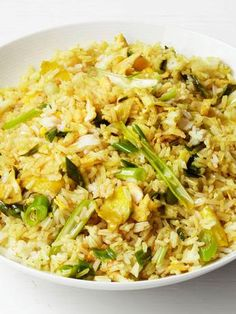 Fried rice is the ultimate pantry-raid dish: just add whatever you have! This one is spiced up with curry powder.