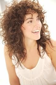 Image result for natural curly hair with bangs tumblr