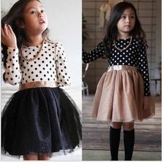 2016 New Baby Girls Xmas Dress Costume children long sleeve dot tutu dress 2 7y toddler girls Clothing-in Dresses from Mother & Kids on Aliexpress.com | Alibaba Group
