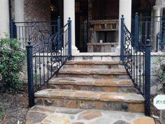 Exterior Wrought Iron Handrails Railing mediterranean house exterior decor ideas