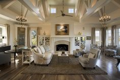 """Interior Paint Color and Color Palette Ideas - """"Benjamin Moore Ivory White Phillip W Smith General Contractor, Inc. White Paint Colors, Interior Paint Colors, Room Interior, Luxury Interior Design, Interior Architecture, Benjamin Moore Ivory White, Transitional Living Rooms, Transitional Chandeliers, Family Room Design"""