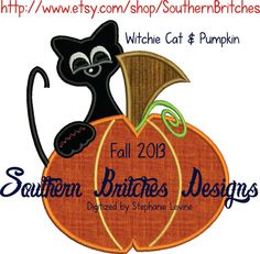 Hey, I found this really awesome Etsy listing at https://www.etsy.com/listing/160202338/black-cat-pumpkin-applique-machine