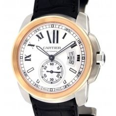 Cartier Calibre De Cartier Mens Watch it. Cartier Calibre, Chronograph, Pink And Gold, Omega Watch, Watches For Men, How To Look Better, Mens Fashion, Luxury, Stuff To Buy