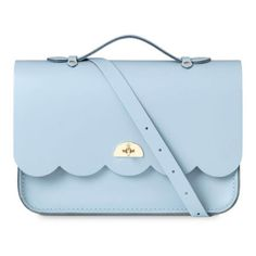 The Cambridge Satchel Company Women's Cloud Bag with Handle -... ($190) ❤ liked on Polyvore featuring bags, handbags, shoulder bags, blue leather purse, satchel bag, satchel handbags, top handle satchel and blue leather handbags