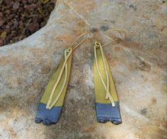 Earring, Modern earrings, Statement earrings, #jewelry #earrings @EtsyMktgTool http://etsy.me/2sDA1ok