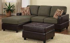 Dark Green Sofa   חיפוש ב Google · Small Sectional SofaLeather ...