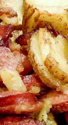 Sausage or Kielbasa, Onion and Greek Potatoes ❊