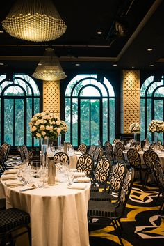 Floor to ceiling arched windows at Doltone House Hyde Park wedding venue
