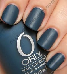 Orly Matte Couture Collection Swatches @Hayley Winn weren't you looking for matte dark blue nail polish?? lol