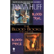 Blood Books series by Tanya Huff.  I met her once at Bakka Books in Toronto