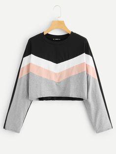 Shein Cut and Sew Crop Sweatshirt - Shein Cut and Sew Crop Sweatshirt Cut and . - Shein Cut and Sew Crop Sweatshirt – Shein Cut and Sew Crop Sweatshirt Cut and Sew Crop Sweatshirt -SheIn(Sheinside) – Source by AlbinaShop - Crop Top Outfits, Cute Casual Outfits, Stylish Outfits, Girls Fashion Clothes, Teen Fashion Outfits, Girl Outfits, Teen Clothing, Women's Fashion, Fashion Dresses