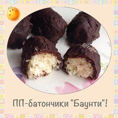 """Диетические батончики """"Баунти"""" - диетические конфеты / полезные батончики - Полезные рецепты - Правильное питание или как правильно похудеть"""
