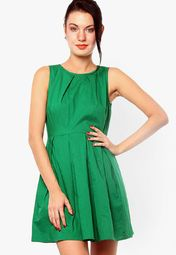 30% OFF on XnY Green Solid Dress