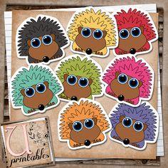 U printables by RebeccaB: FREE printable - Cute Hedgehogs