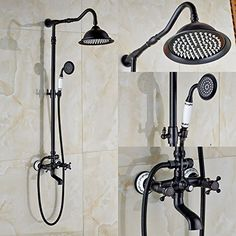 Rozin Oil Rubbed Bronze Bathroom Shower Faucet Set 8 Inch  https Wovier Sink Two Handle Single Hole