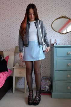 Glitter Jacket, Glitter Shorts, My Outfit, Outfit Of The Day, Topshop Sale, Pvc Skirt, Amelia Rose, Pink Crop Top