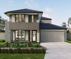 We have a range of new home designs with luxury inclusions and ultimate flexibility for families! Discover our new home designs in Melbourne at Metricon. New Home Designs, Home Design Plans, Plan Design, Two Storey House Plans, Large Floor Plans, Modern Garage, Small Modern Home, Melbourne House, Storey Homes