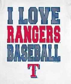 I love rangers baseball.