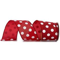 red white polka dot ribbon