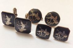 Lot of 3 Pairs Vintage Dancing Goddess Cufflinks - Made in Siam  | eBay