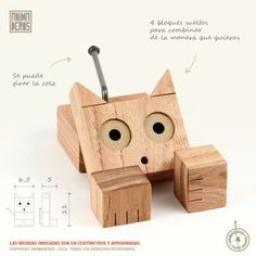 "GATO ""LULA"" Diy Projects For Kids, Wood Projects, Woodworking Projects, Lathe Projects, Wooden Gifts, Wooden Diy, Wood Pencil Holder, Monster Box, Animal Cutouts"