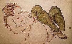 Egon SCHIELE : Nude with Green Stockings, 1918 : Reproduction, Fine Art print, poster 80 x 60 cm x Life Drawing, Painting & Drawing, Gouache, Green Stockings, Kunst Poster, Gustav Klimt, Art Plastique, Erotic Art, Art Forms