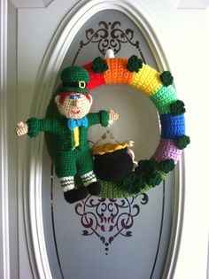 Crocheted St. Patrick's Day wreath