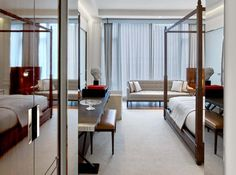 Overlooking 53rd Street, the Grand Classic King room at the Baccarat Hotel is Parisian elegance at its finest.