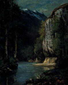 A River in a Gorge. Gustave Courbet