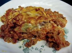 Paula Deen's Baked Beef Enchilada Casserole. Just made this, DELICIOUS!