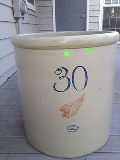 REDWING RED WING POTTERY STONEWARE CROCK 30 GALLON