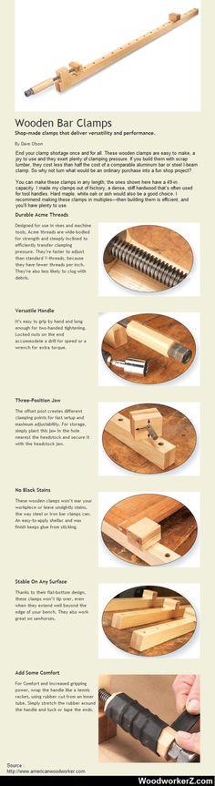 Wooden Bar Clamps http://ift.tt/1ud6BmX