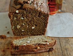 Maple Pumpkin Spice Bread ::  substitute canned pumpkin puree, ground ginger, and ground cinnamon with fresh pureed 1c kabocha, 1 tsp fresh ginger, and 1tsp cinnamon stick in a food processor. not a 'tastes like pumpkin pie' bread