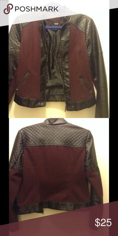 ✨Fall leather jacket✨ a.n.a  leather jacket. Gently worn. Small sign of wear but still looks great. a.n.a Jackets & Coats