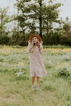 Pink Floral Dress   ROOLEE