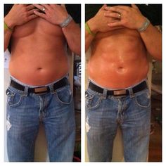 Not that he needed it but real men wrap it's up with the itworks skinny wrap!