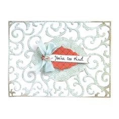 Sizzix Thinlits Die - Frame, Iron Gate $19.99 ***If extra ejection is needed for easier separation of the die-cut from the design, place wax paper between the Thinlits Die and your material and then cut.