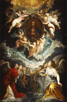 PETER PAUL RUBENS Das Gnadenbild der Madonna della Vallicella, von Engeln verehrt - Modello für das Hochaltarblatt von Sta. Maria in Valicella, Rom