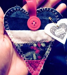 My husband and were walking along the B&A trail and happened upon the heart on the side of the trail. This heart was found in Annapolis, MD. #IFAQH #ifoundaquiltedheart