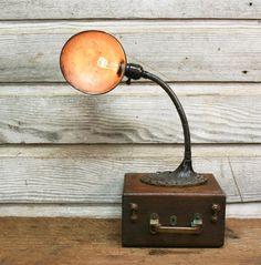 Vintage Industrial Desk Lamp - ReWired Art Deco Lamp by AuroraMills, $68.00