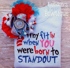 Items similar to Why fit in when YOU were born to STANDOUT Embriodered T-shirt on Etsy Shirt Pins, T Shirt, First Girl, Get One, 4th Of July Wreath, Christmas Wreaths, Birthdays, Delicate, Presents