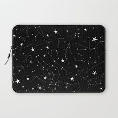 Constellations Laptop Cover by Rachel Buske - Laptop Sleeve - Cute Laptop Cases, Cute Iphone 7 Cases, Laptop Case Macbook, Diy Laptop, Laptop Covers, Macbook Air, Laptop Bags, Coque Macbook, Aesthetic Galaxy