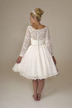 Bridget - Brides by Harvee Short Lace 50's style wedding dress